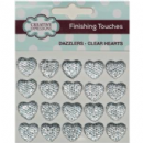 Creative Expressions Finishing Touches Dazzlers - Clear Hearts Mix 10 x 8mm,10mm,12mm